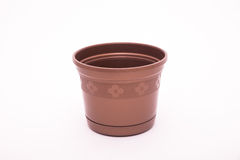 Empty plant pot. Isolated on white background royalty free stock photography