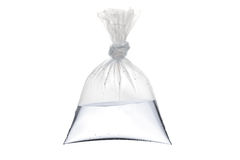 An empty plastic bag with water Stock Photography