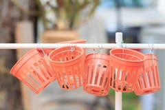 Empty plastic basket Royalty Free Stock Photos