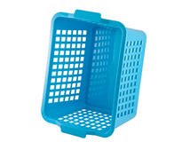 Empty plastic basket Royalty Free Stock Image