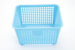 Empty plastic basket Stock Images