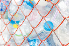 Empty plastic bottles for for recycling Stock Photo