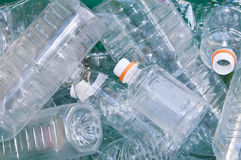 Empty plastic bottles Stock Image