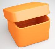 Empty plastic box Royalty Free Stock Image