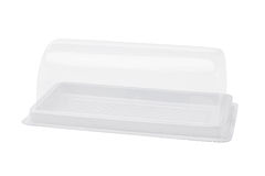 Empty Plastic Cake Box Stock Photo