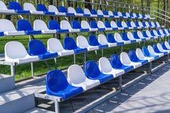 Grandstand stadium plastic Royalty Free Stock Image