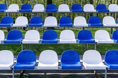 Grandstand stadium plastic Stock Images
