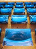 Empty Plastic Chairs at the Stadium Stock Image