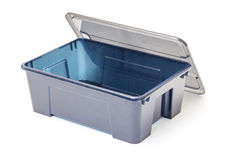 Empty Plastic Container with Lid Royalty Free Stock Image