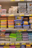 Empty plastic containers Stock Image
