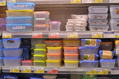 Empty plastic containers Royalty Free Stock Photos