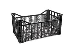 Empty plastic crate Royalty Free Stock Photos