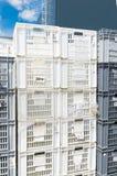 Empty plastic crates Royalty Free Stock Image
