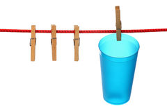 Empty plastic cup Stock Image