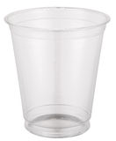Empty plastic cup. Royalty Free Stock Image