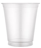 Empty plastic cup. File contains clipping paths royalty free stock photo