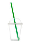 Empty plastic cup. Royalty Free Stock Images