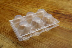Empty Plastic egg box Stock Photo