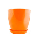 Empty plastic flower pot Royalty Free Stock Images