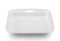 Empty plastic food polystyrene tray Royalty Free Stock Image