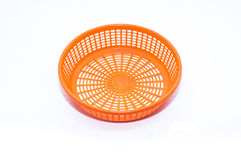 Empty plastic fruit or bread basket. On white background Royalty Free Stock Photo