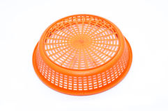 Empty plastic fruit or bread basket. On white background Royalty Free Stock Image