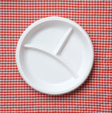 Empty plastic plate. Royalty Free Stock Images