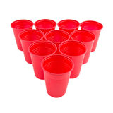 Empty Plastic red cups Royalty Free Stock Image