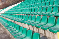 Empty plastic seats Stock Images