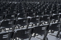 Empty plastic seats in public square Royalty Free Stock Images