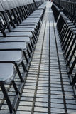 Empty plastic seats in public square Royalty Free Stock Photos