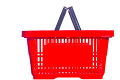 Empty plastic shopping basket Stock Image
