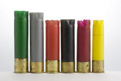 Empty plastic shotgun shells collected after duck Stock Photography