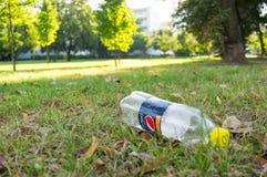 Empty plastic soda bottle Stock Image
