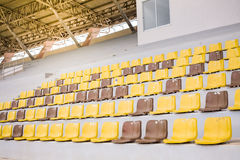 Empty plastic stadium seats Royalty Free Stock Image