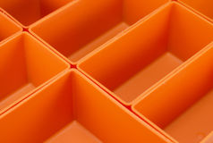 Empty plastic tool organiser isolated Royalty Free Stock Image
