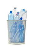 Empty plastic water bottles. On white Royalty Free Stock Image