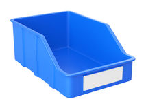Empty plastick box for parts. Royalty Free Stock Images