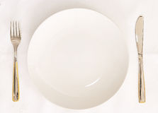 Empty plate stock image