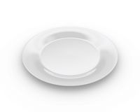 Empty plate stock illustration