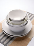 Empty plate and bowl Stock Images