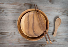 Empty plate and chopsticks Royalty Free Stock Images