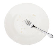 Empty Plate with Clipping Path Royalty Free Stock Images