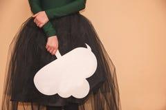 Empty plate Cloud Stock Image