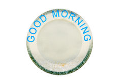 Empty plate or dish with word Stock Image