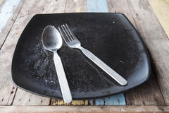 Empty plate after food Stock Image