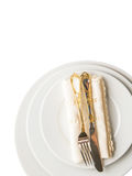 Empty Plate, Fork, Knife, Napkin VI Stock Photography