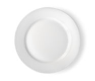 Empty plate isolated Path Stock Photos