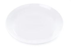Empty plate isolated on white Royalty Free Stock Image
