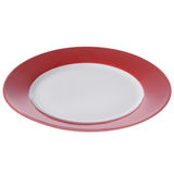 Empty plate isolated. On white background Royalty Free Stock Image
